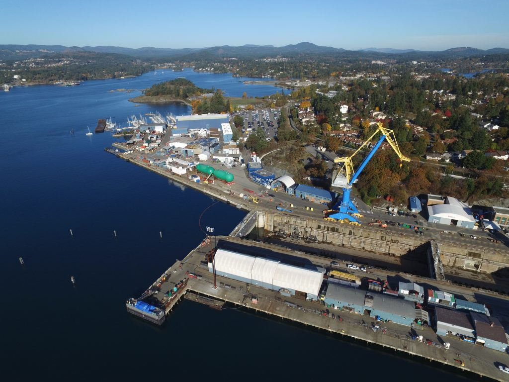 Babcock conducts submarine refits at a purpose-built maintenance facility located at Canada's Esquimalt Graving Dock