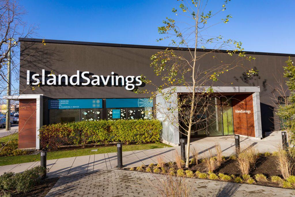 Island Savings exterior Mayfair Mall branch