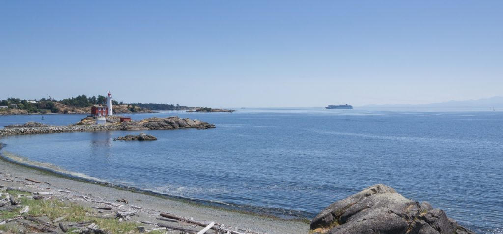 Esquimalt Lagoon, with Fort Rodd Hill Lighthouse in the background